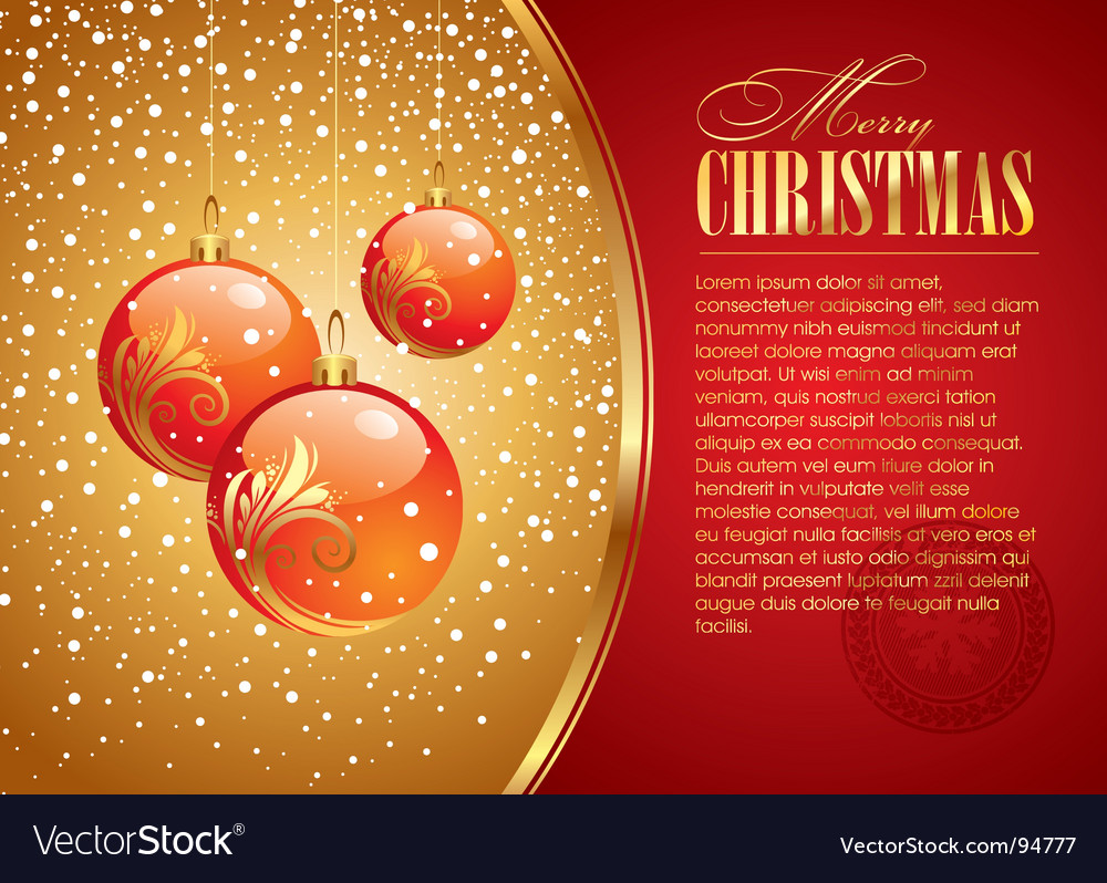 Christmas card with holidays toys vector | Price: 1 Credit (USD $1)