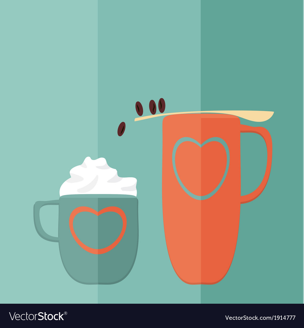 Coffee game flat vector | Price: 1 Credit (USD $1)