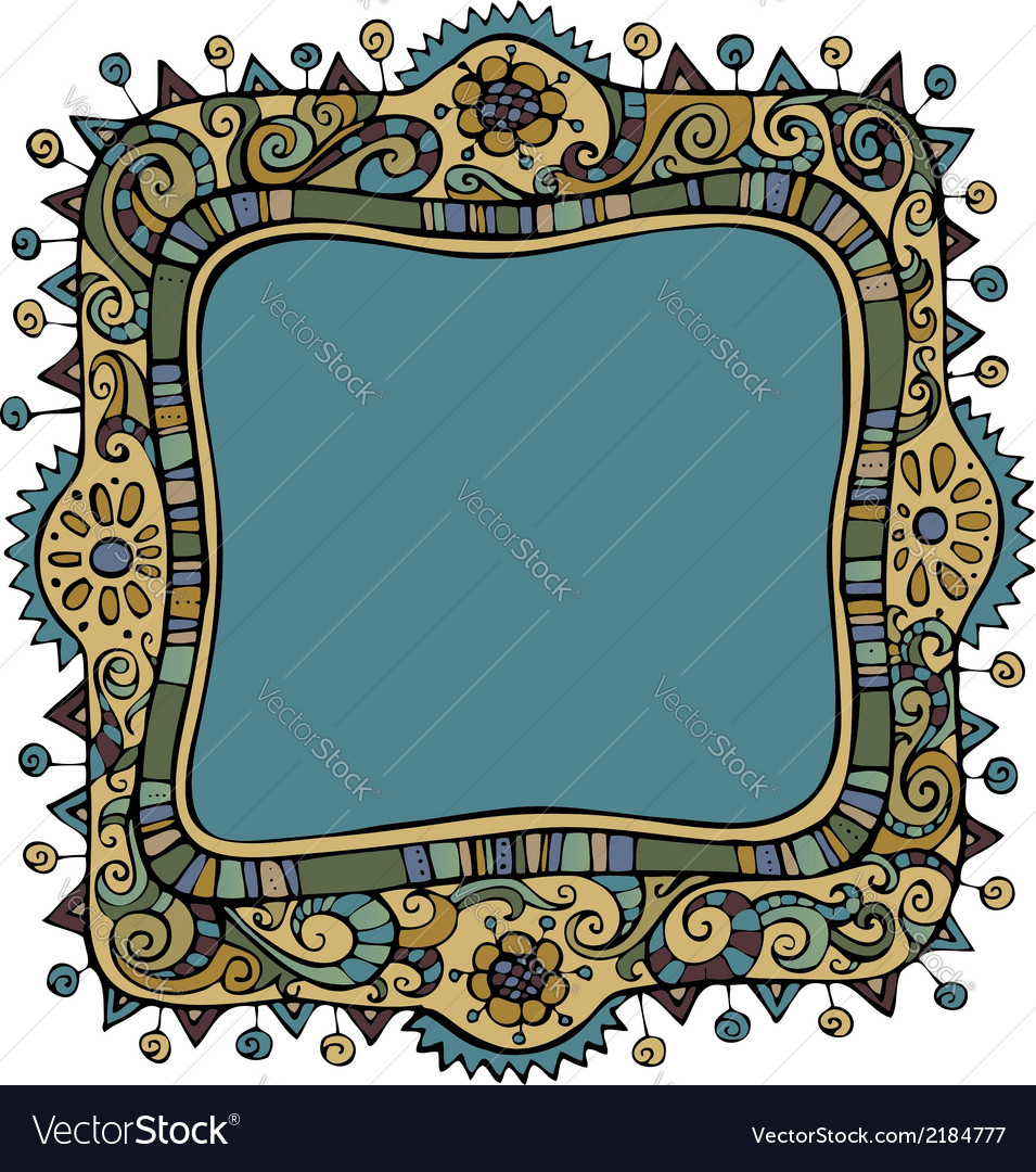 Fantasy decorative frame background vector | Price: 1 Credit (USD $1)