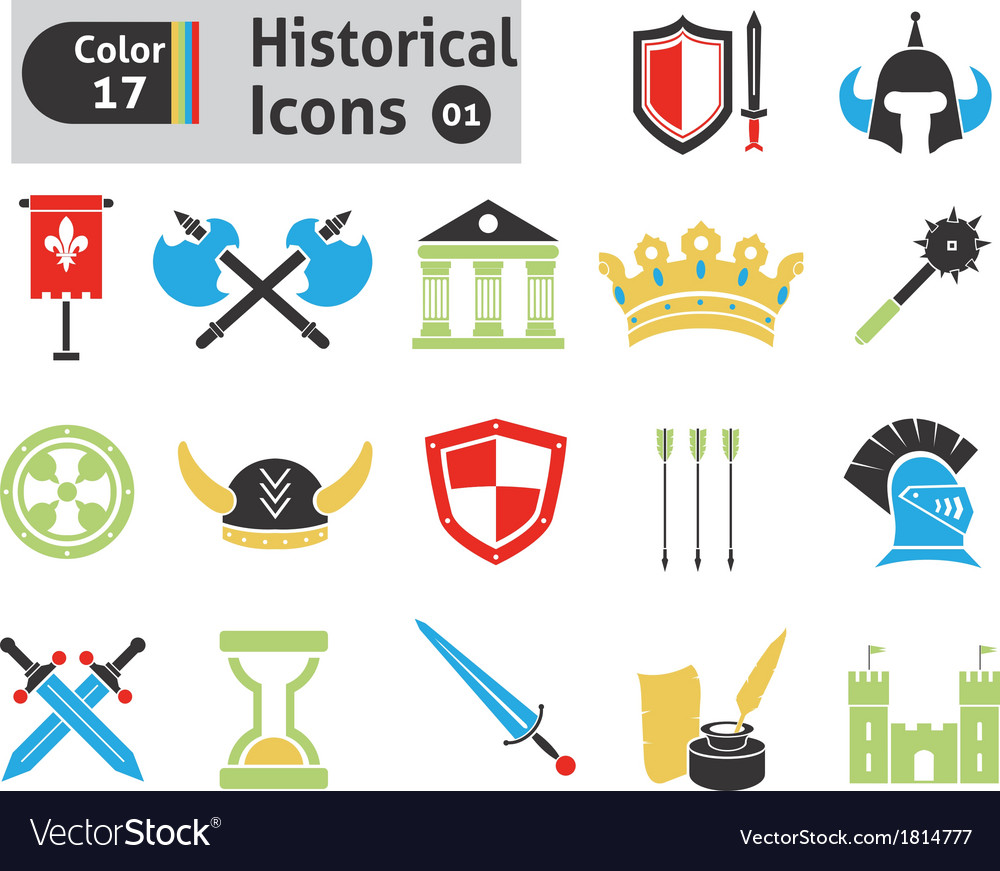 Histoical icons vector | Price: 1 Credit (USD $1)
