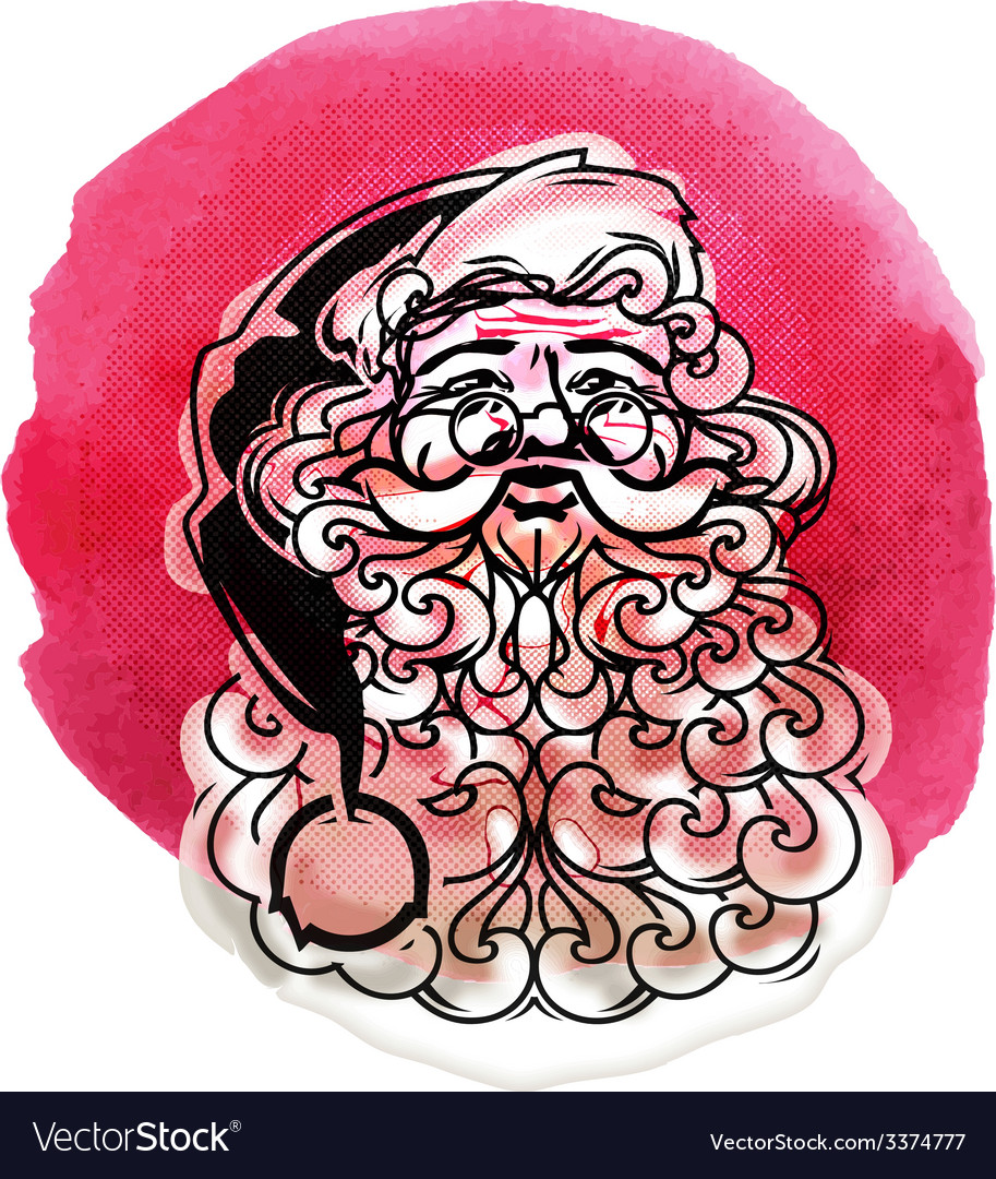 Santa claus merry christmas vector   Price: 1 Credit (USD $1)
