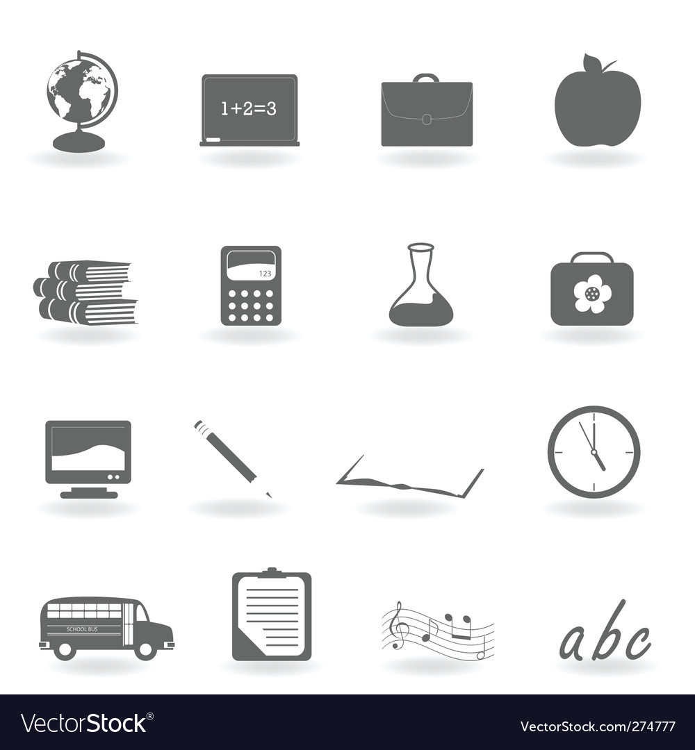 School icons vector | Price: 1 Credit (USD $1)