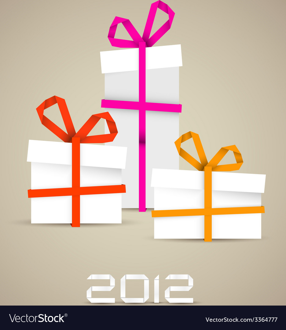 Simple christmas gifts made from paper stripes vector | Price: 1 Credit (USD $1)