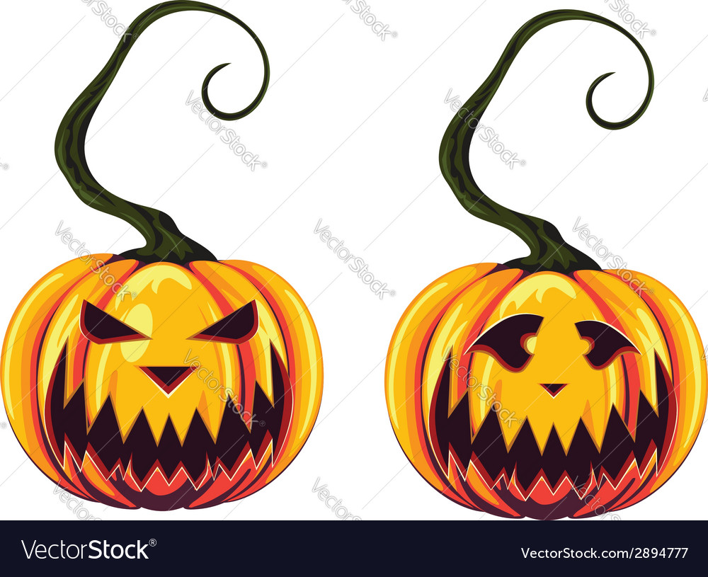 Spooky halloween pumpkins vector | Price: 1 Credit (USD $1)