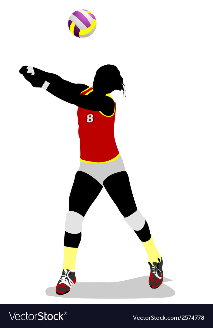 Al 0403 volleyball 02 vector | Price: 1 Credit (USD $1)