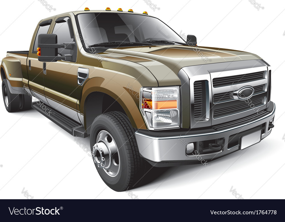 American full size pickup truck vector | Price: 3 Credit (USD $3)
