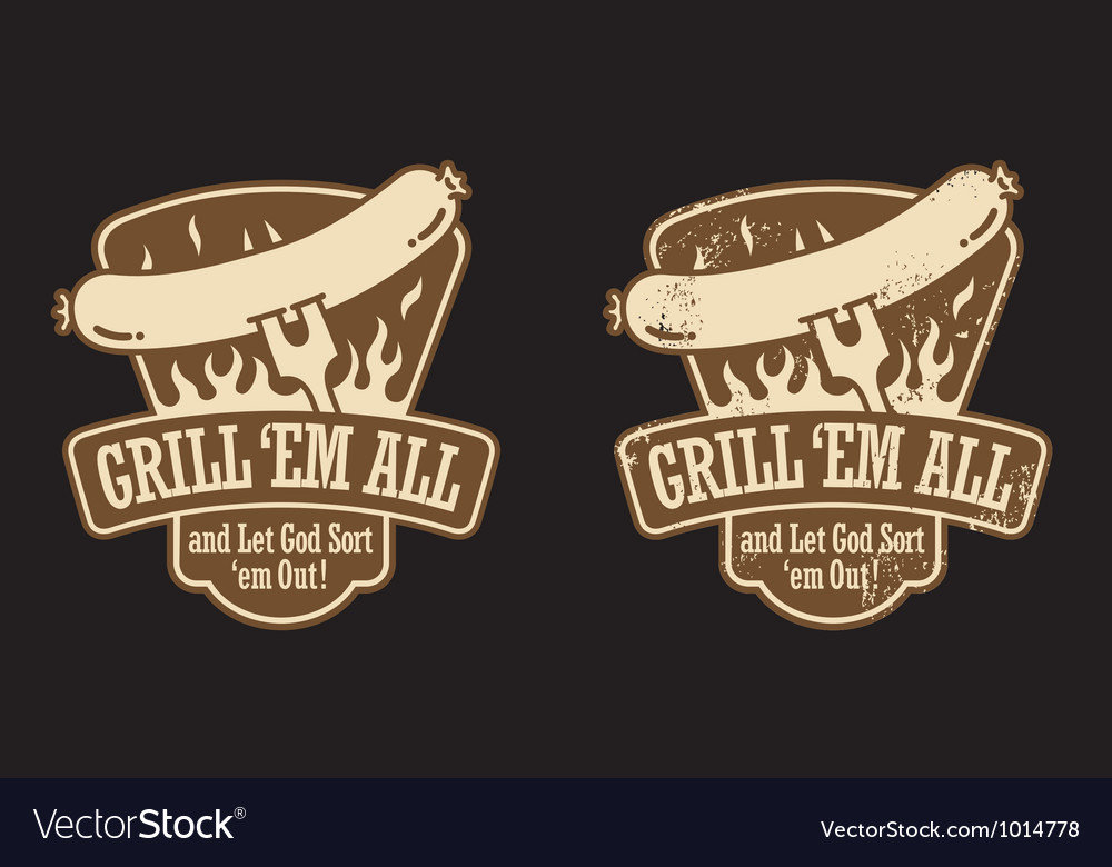 Barbecue emblem vector | Price: 1 Credit (USD $1)