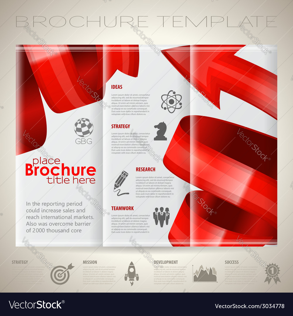 Brochure design template vector | Price: 1 Credit (USD $1)