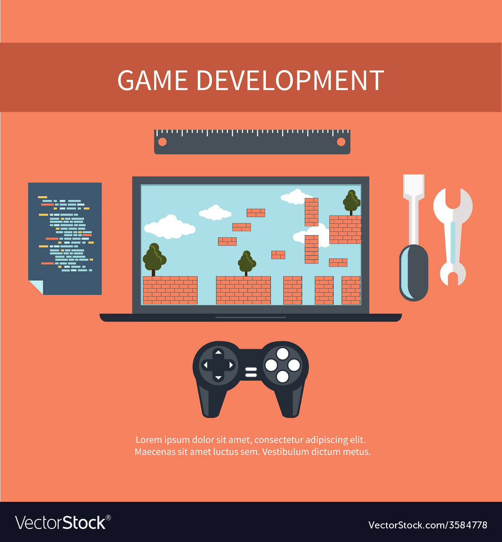 Game development concept vector | Price: 1 Credit (USD $1)