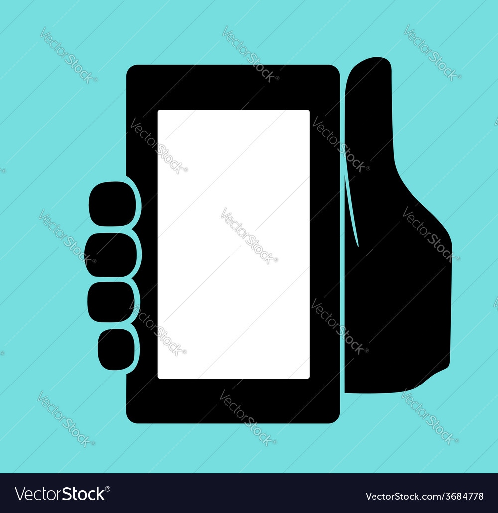 Hand with phone vector | Price: 1 Credit (USD $1)