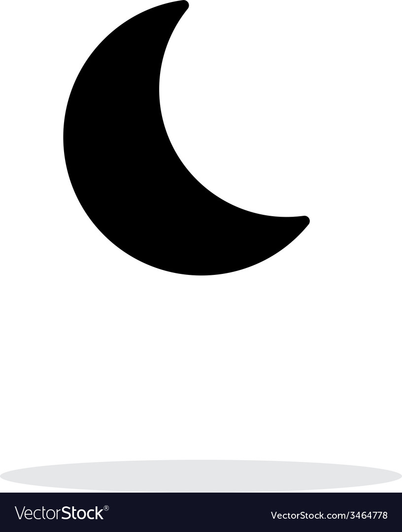 Night weather icon on white background vector | Price: 1 Credit (USD $1)