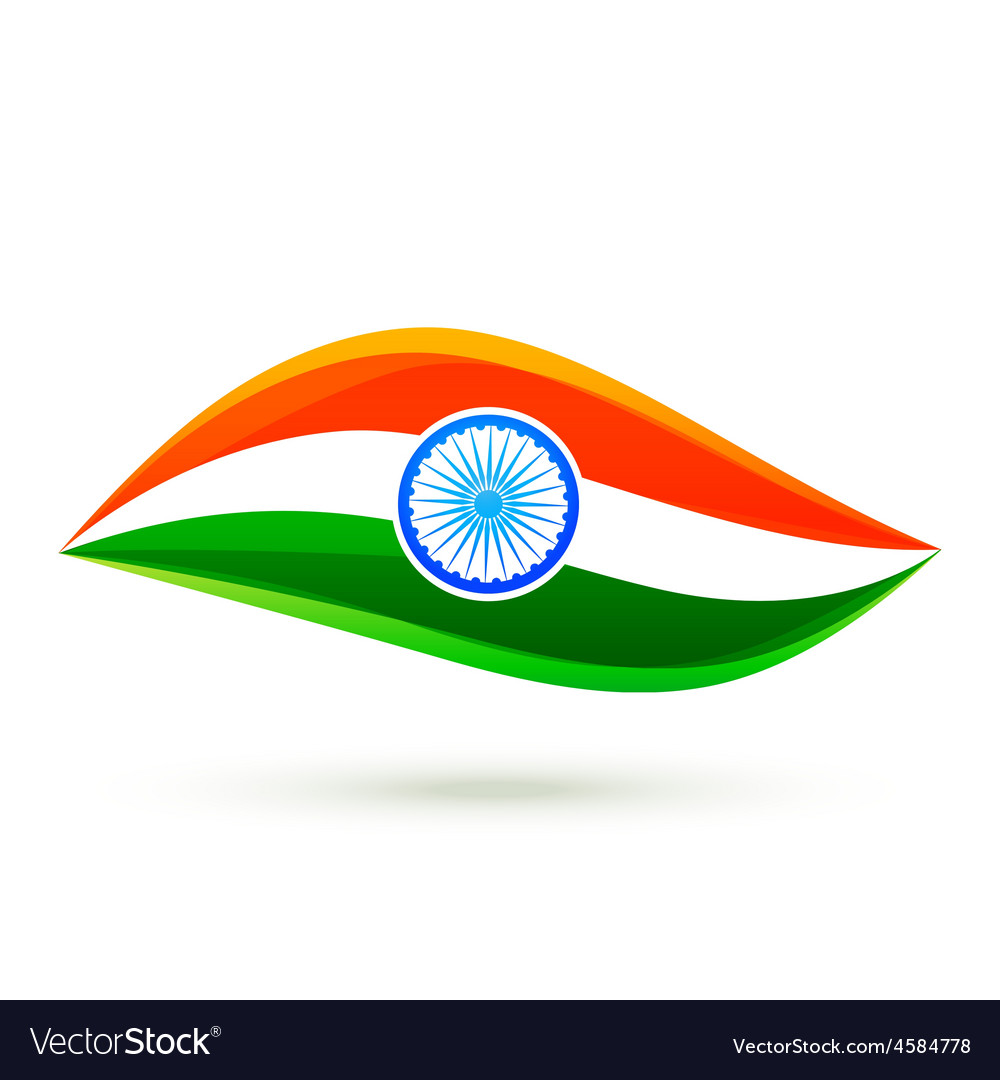 Simple indian flag style design vector | Price: 1 Credit (USD $1)