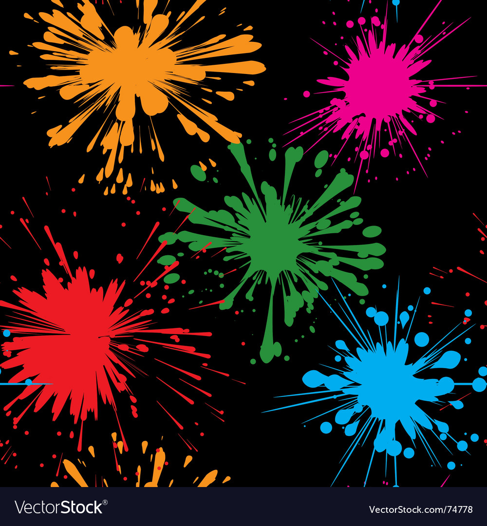 Splash background seamless vector | Price: 1 Credit (USD $1)