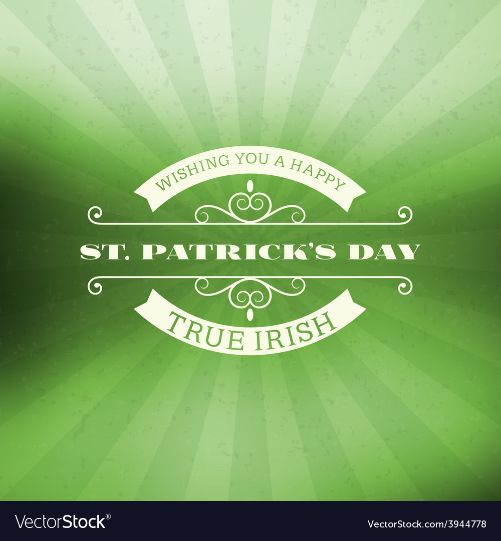 St patricks day vintage holiday badge design vector | Price: 1 Credit (USD $1)