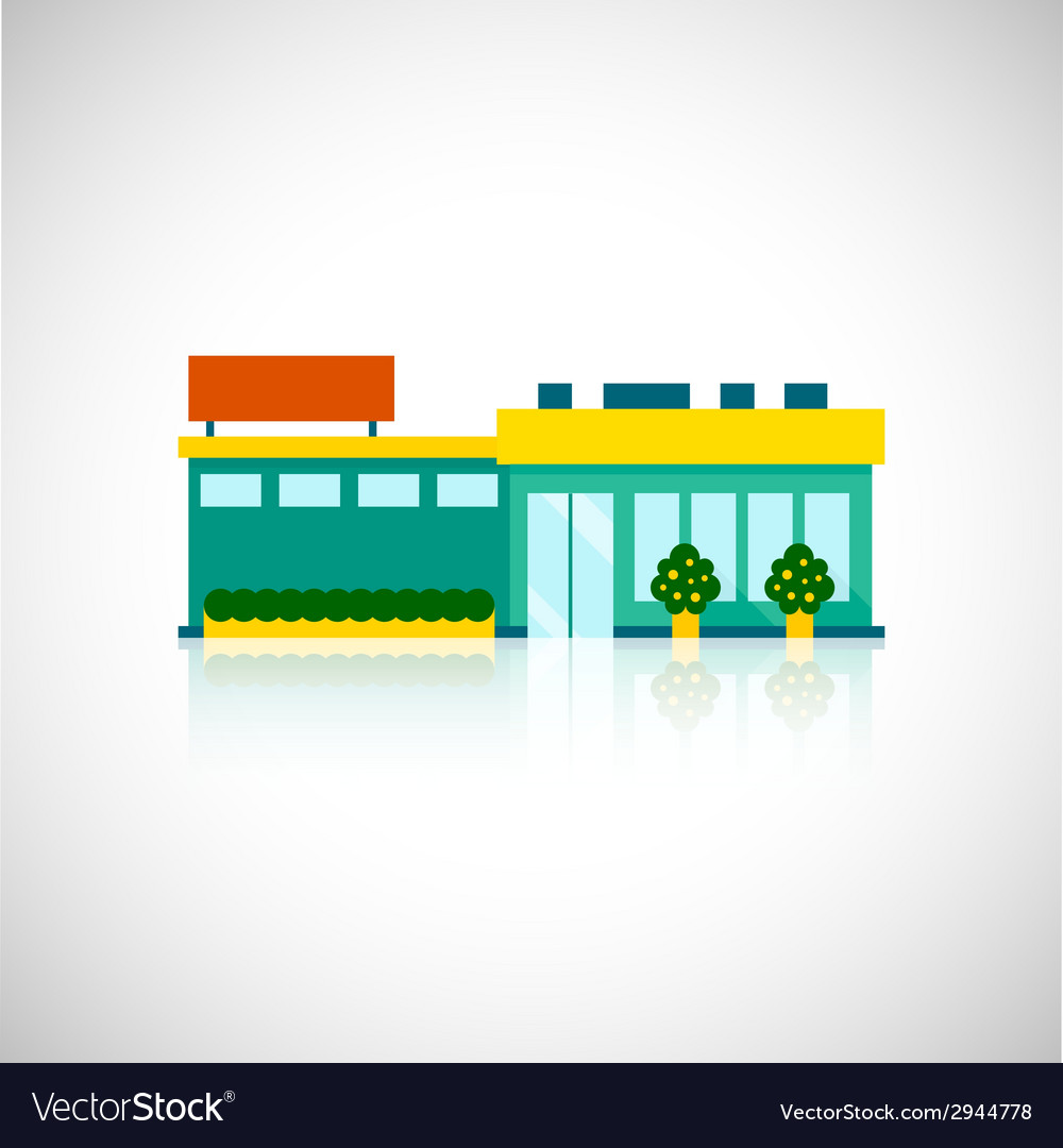 Supermarket icon flat vector | Price: 1 Credit (USD $1)