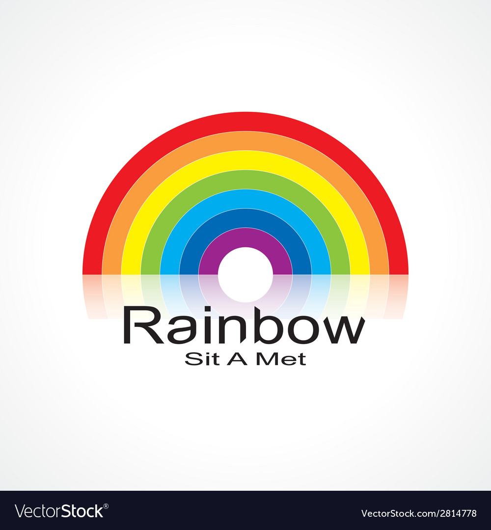 Symbol rainbow vector | Price: 1 Credit (USD $1)