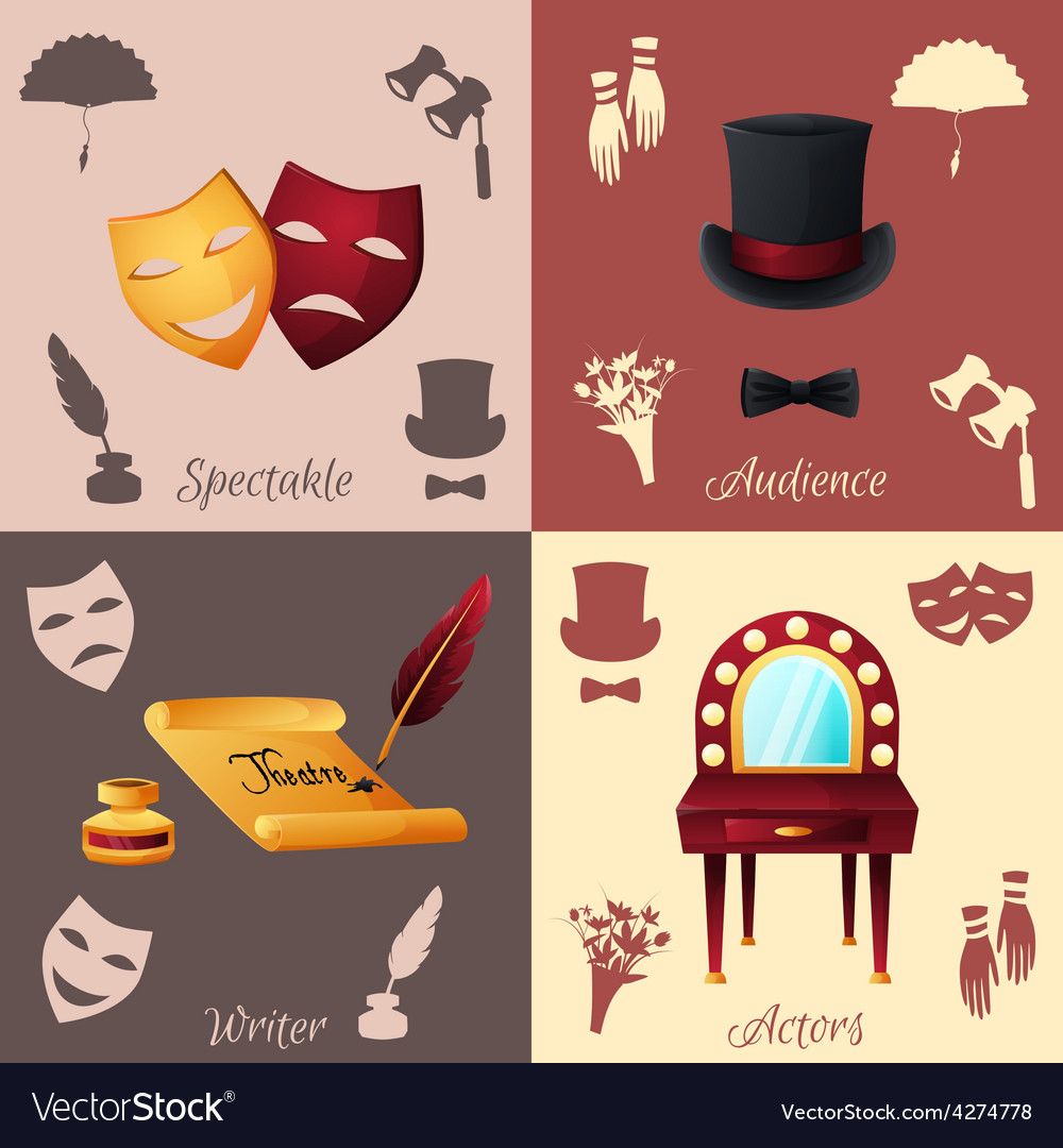 Theater concept set vector | Price: 1 Credit (USD $1)