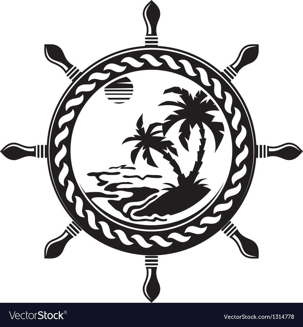 Wheel with summer island inside vector | Price: 1 Credit (USD $1)
