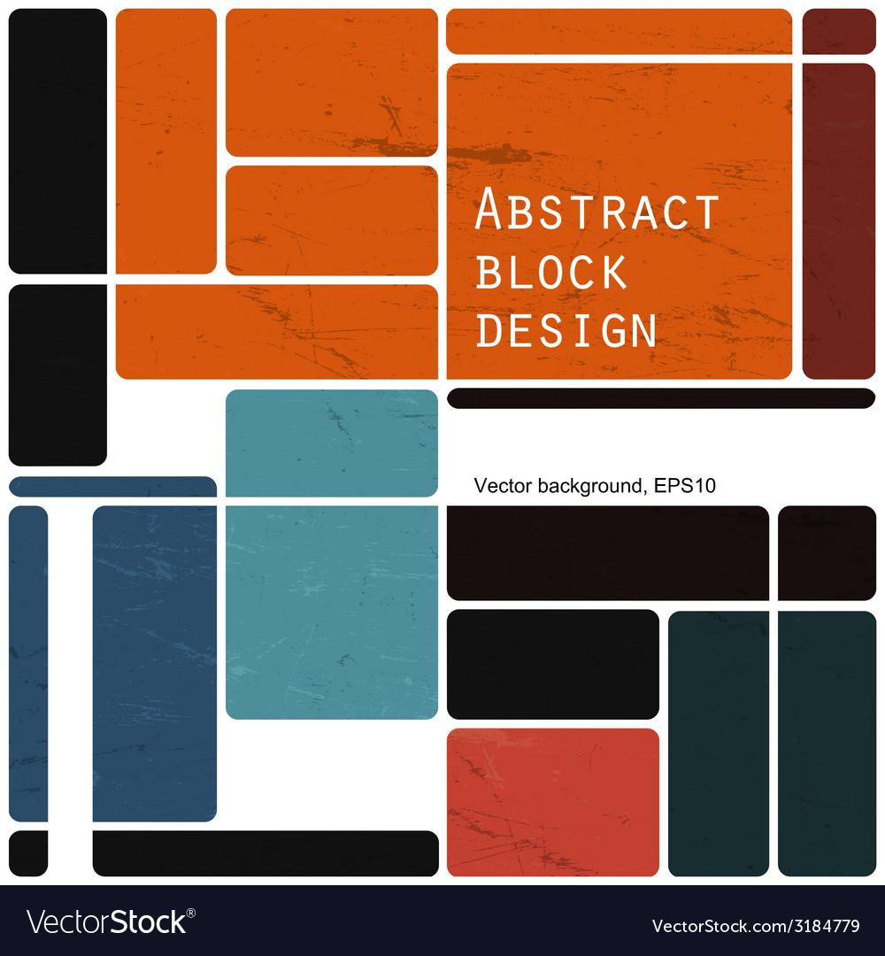 Block template design vector | Price: 1 Credit (USD $1)