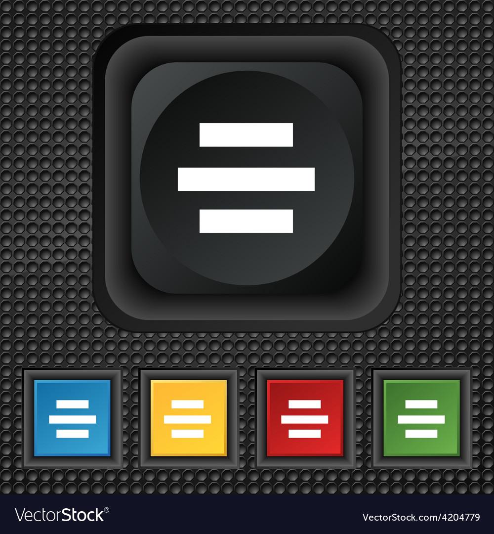 Center alignment icon sign symbol squared vector   Price: 1 Credit (USD $1)