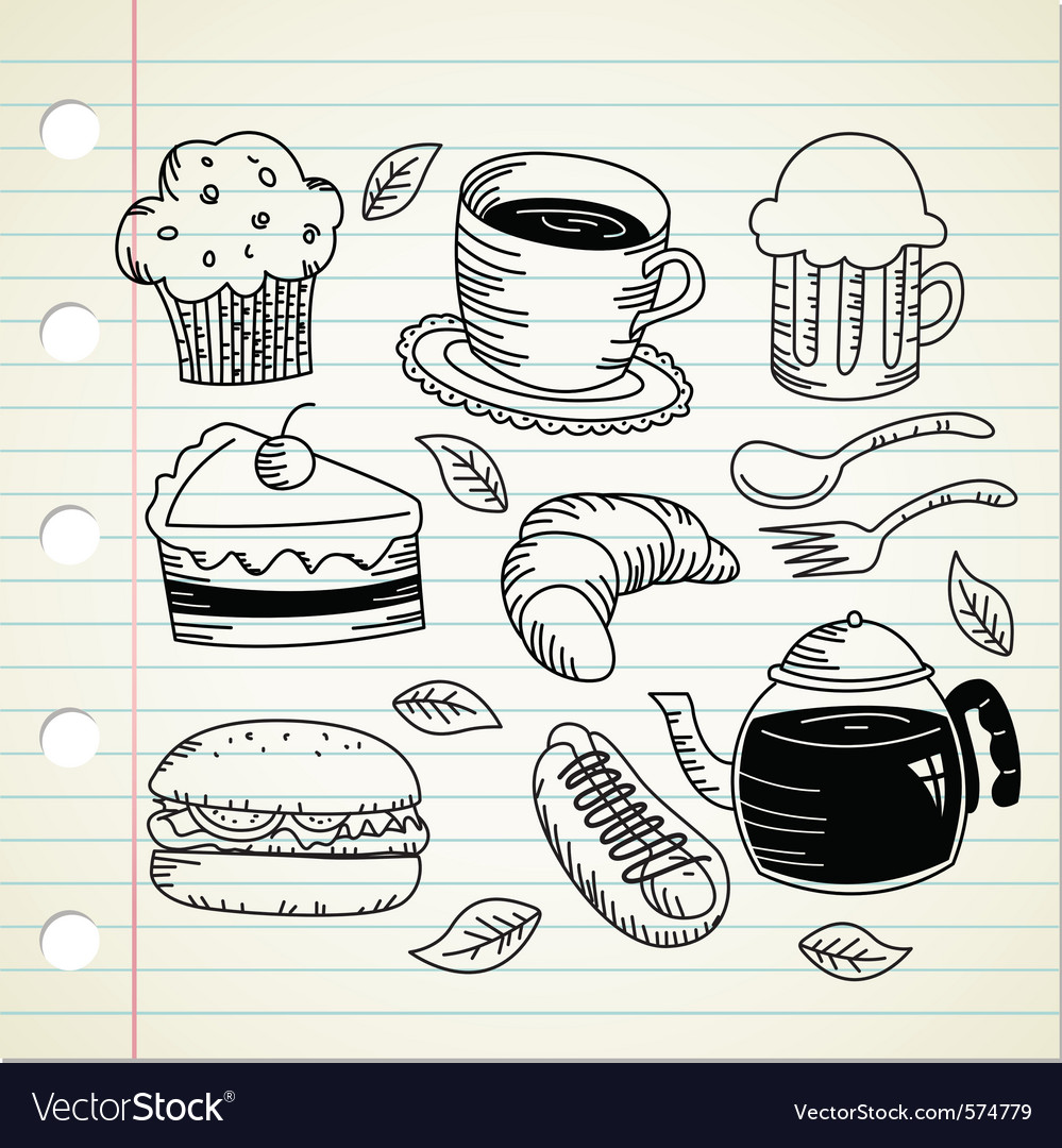 Food and drink doodle vector | Price: 1 Credit (USD $1)