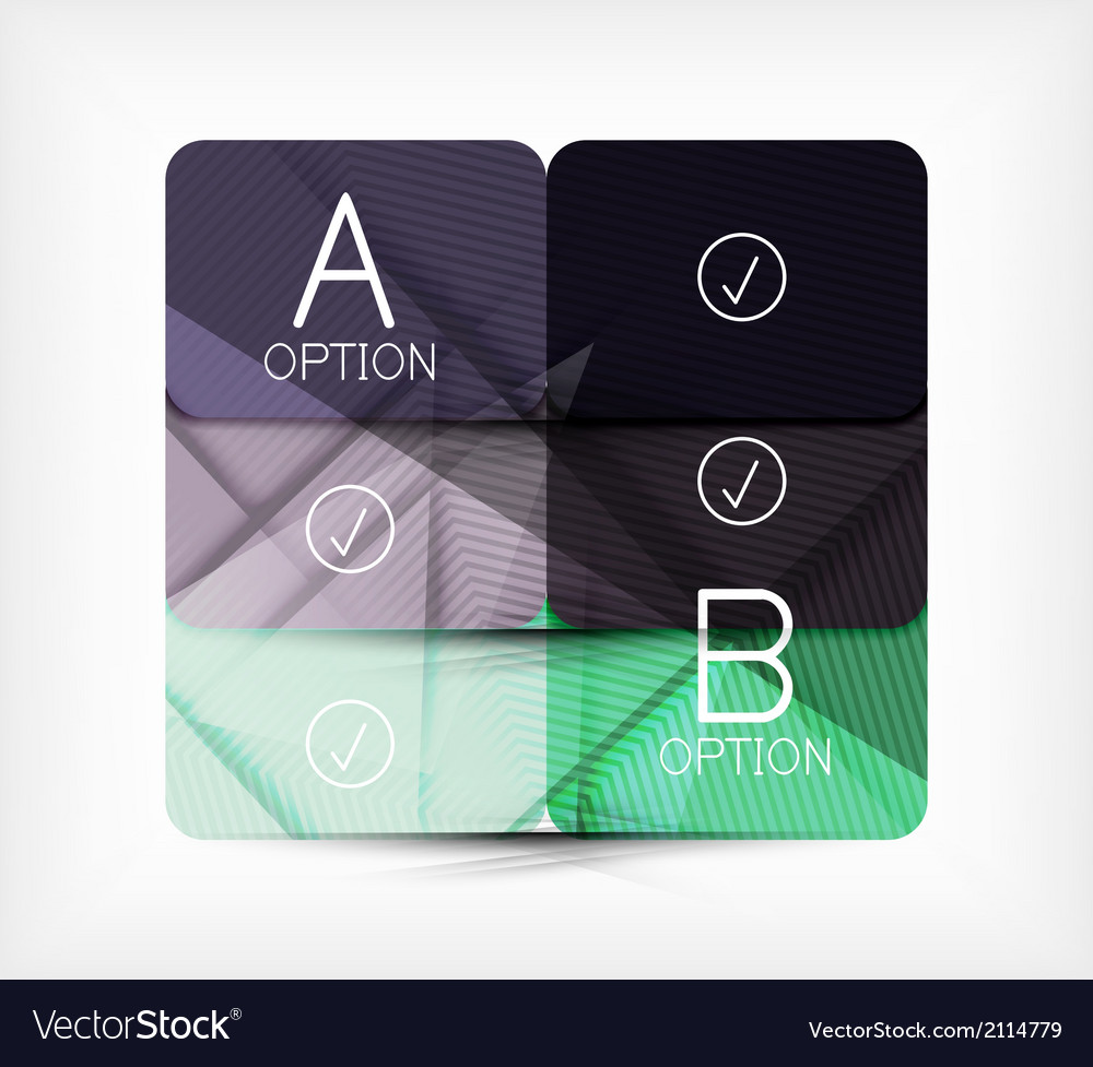 Geometric shaped option banner design template vector | Price: 1 Credit (USD $1)