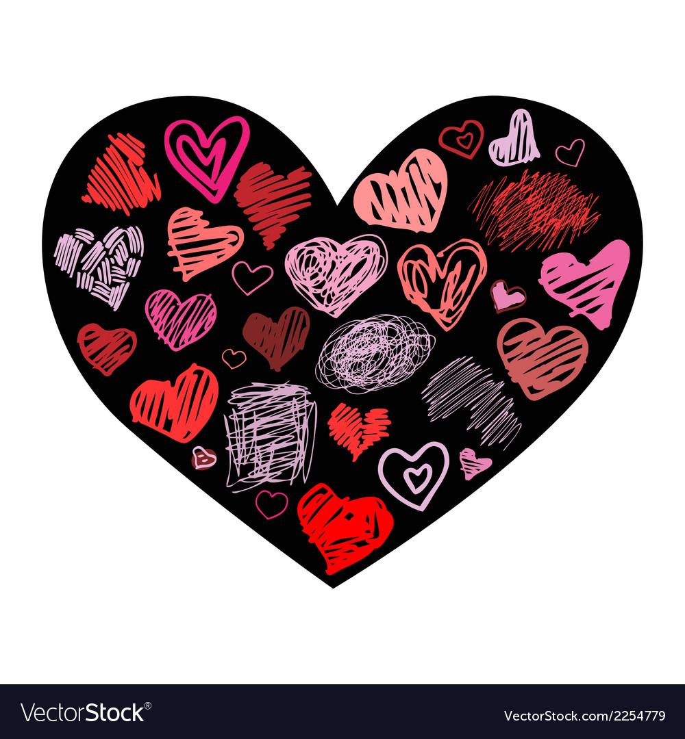 Heart design element vector | Price: 1 Credit (USD $1)