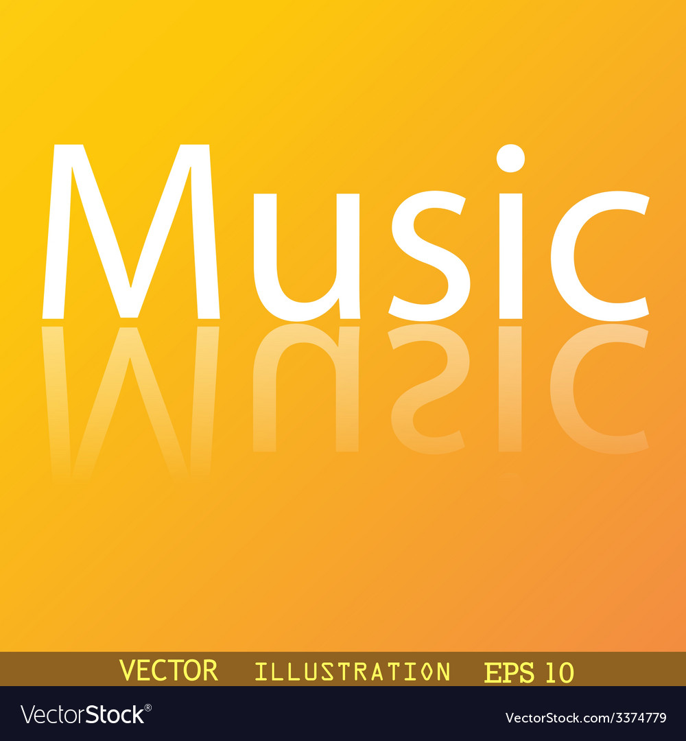 Music icon symbol flat modern web design with vector | Price: 1 Credit (USD $1)