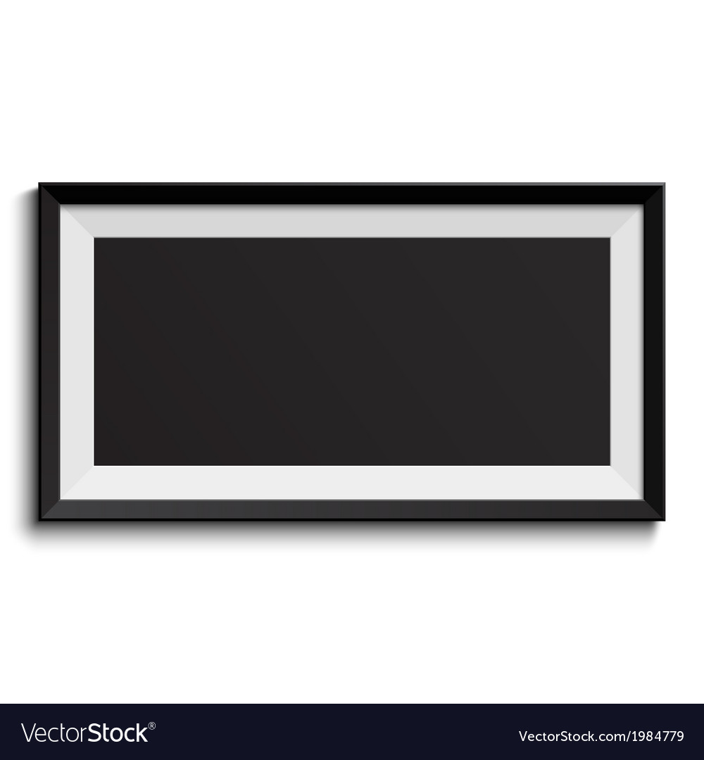 Picture frame isolated on white background vector | Price: 1 Credit (USD $1)
