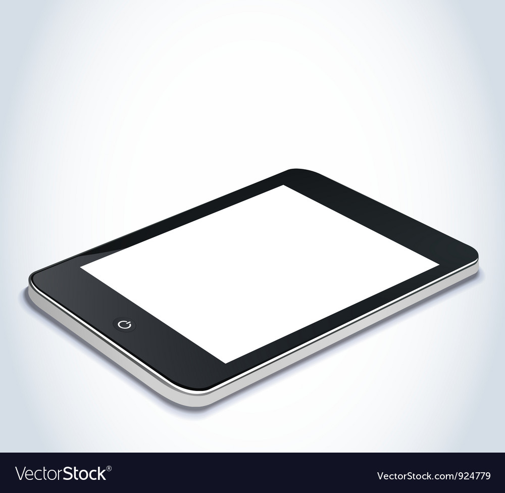 Tablet device vector | Price: 3 Credit (USD $3)