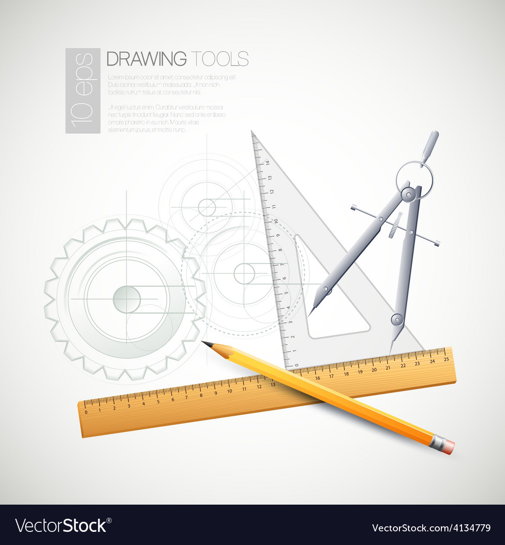 With drawing tools vector | Price: 1 Credit (USD $1)