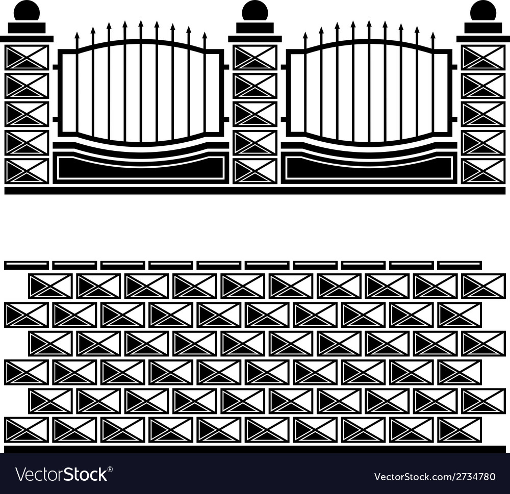 Black ornate brick wall vector | Price: 1 Credit (USD $1)