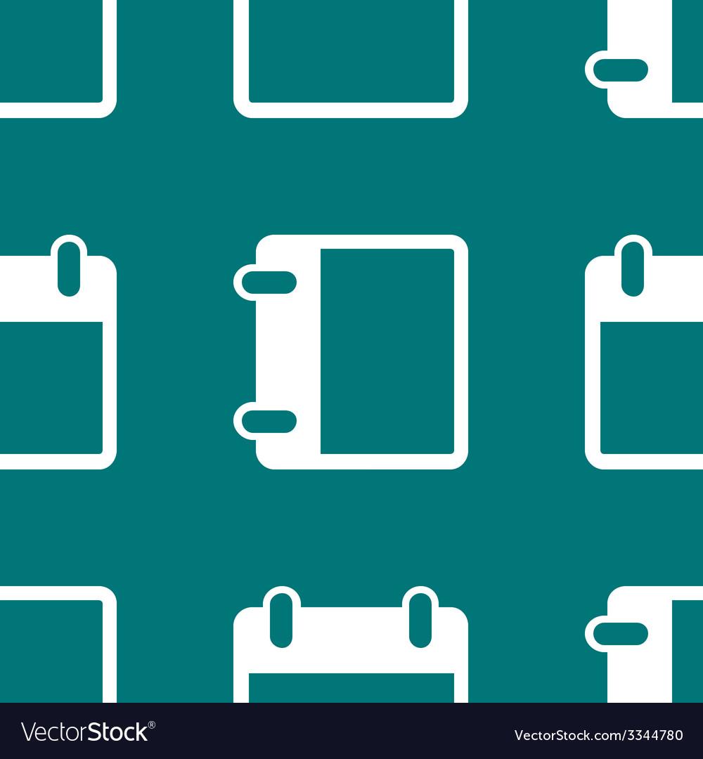 Calendar web icon flat design seamless pattern vector   Price: 1 Credit (USD $1)