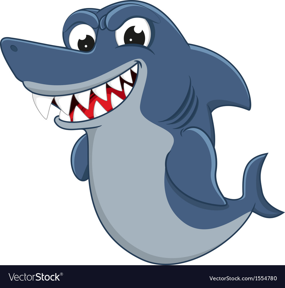 Cool shark cartoon vector | Price: 1 Credit (USD $1)