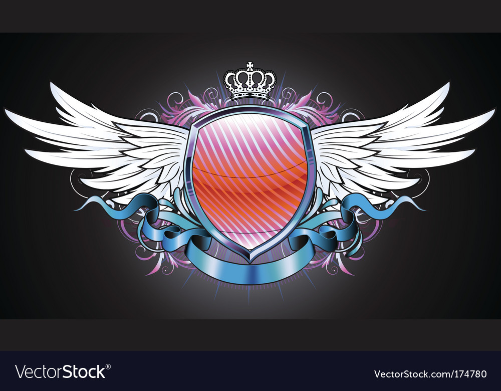 Heraldic shield vector | Price: 3 Credit (USD $3)