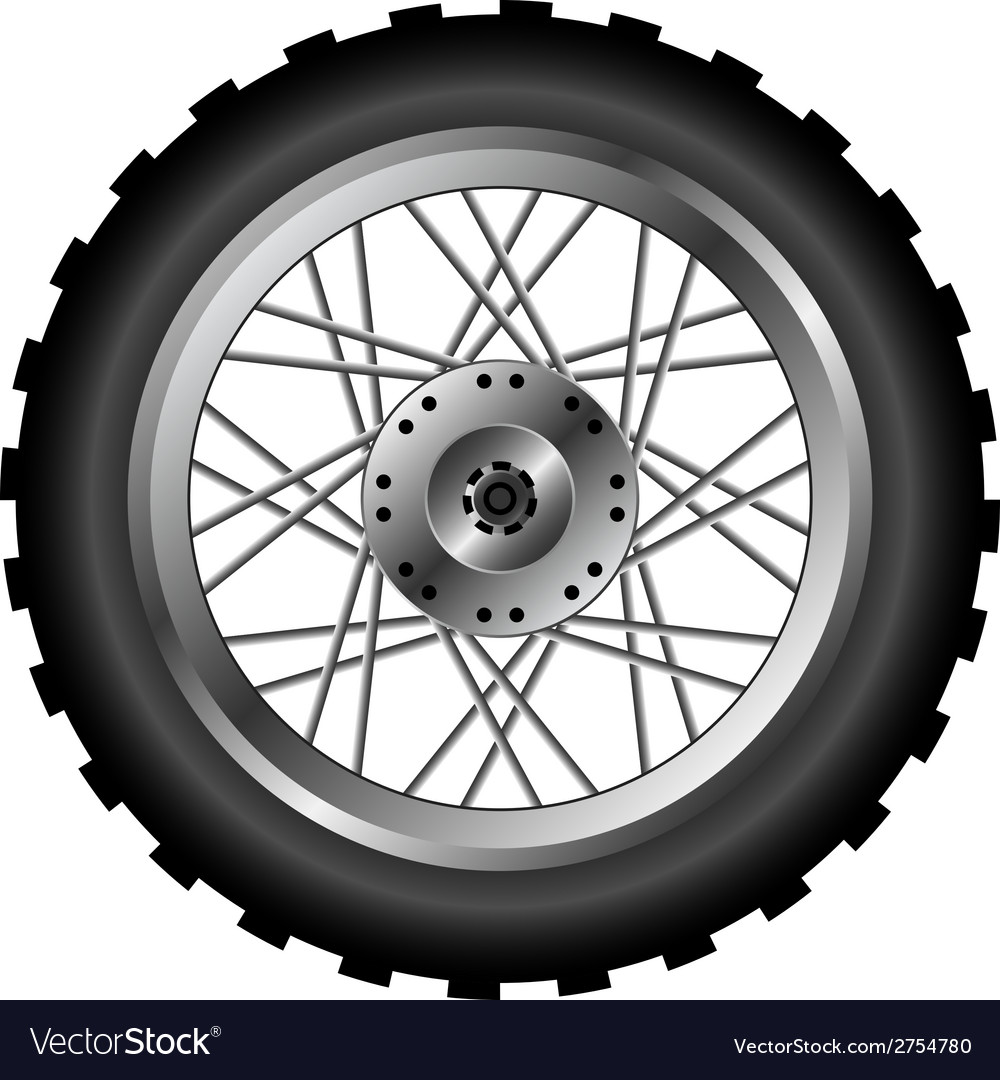 Motorcycle wheel vector | Price: 1 Credit (USD $1)