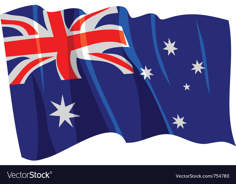 Political waving flag of australia vector | Price: 1 Credit (USD $1)