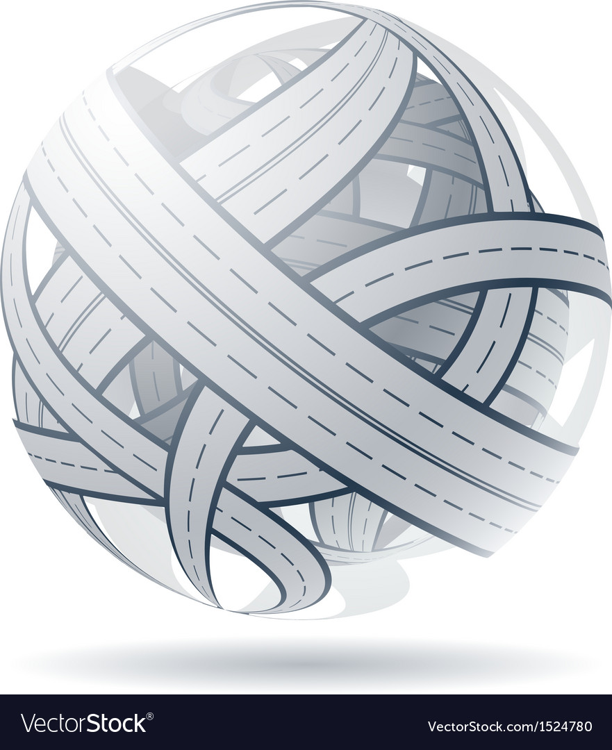 Tangled road skein and traffic jam vector   Price: 1 Credit (USD $1)