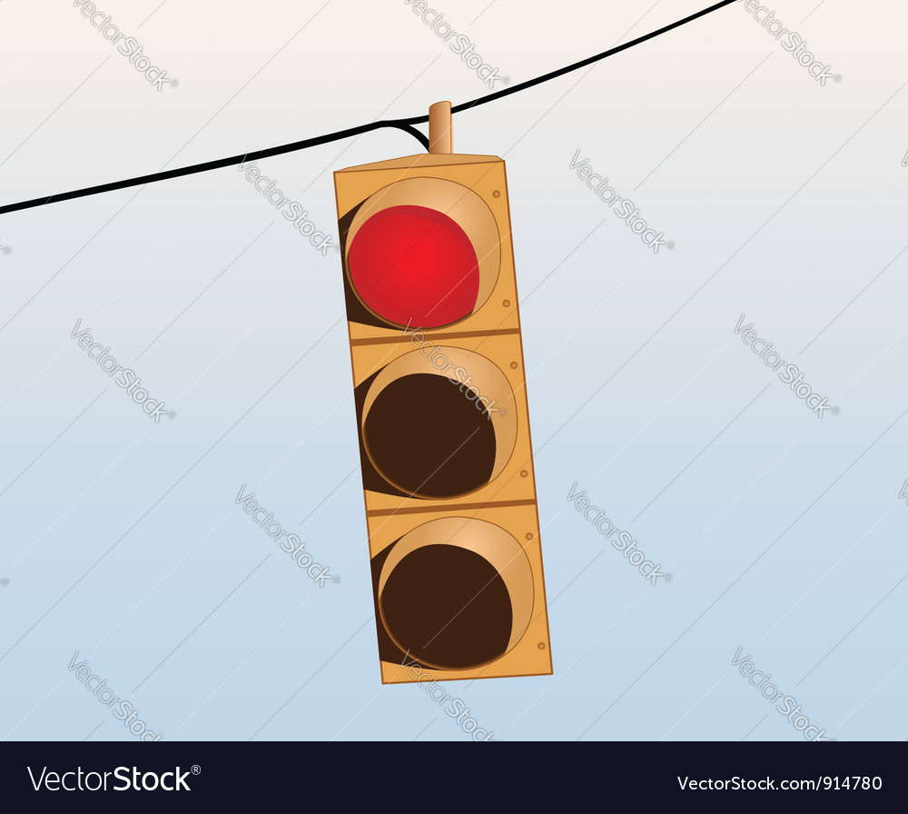 Traffic lights on the wire vector | Price: 1 Credit (USD $1)