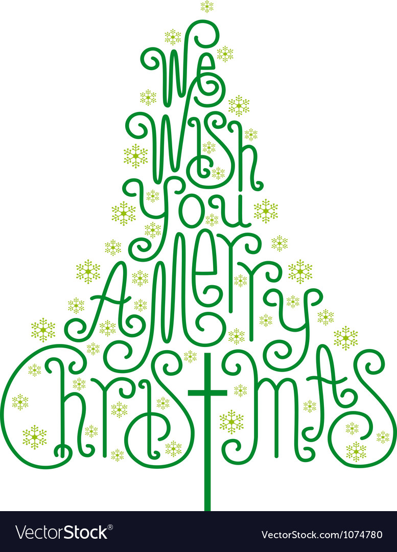 We wish you a merry christmas card vector | Price: 1 Credit (USD $1)