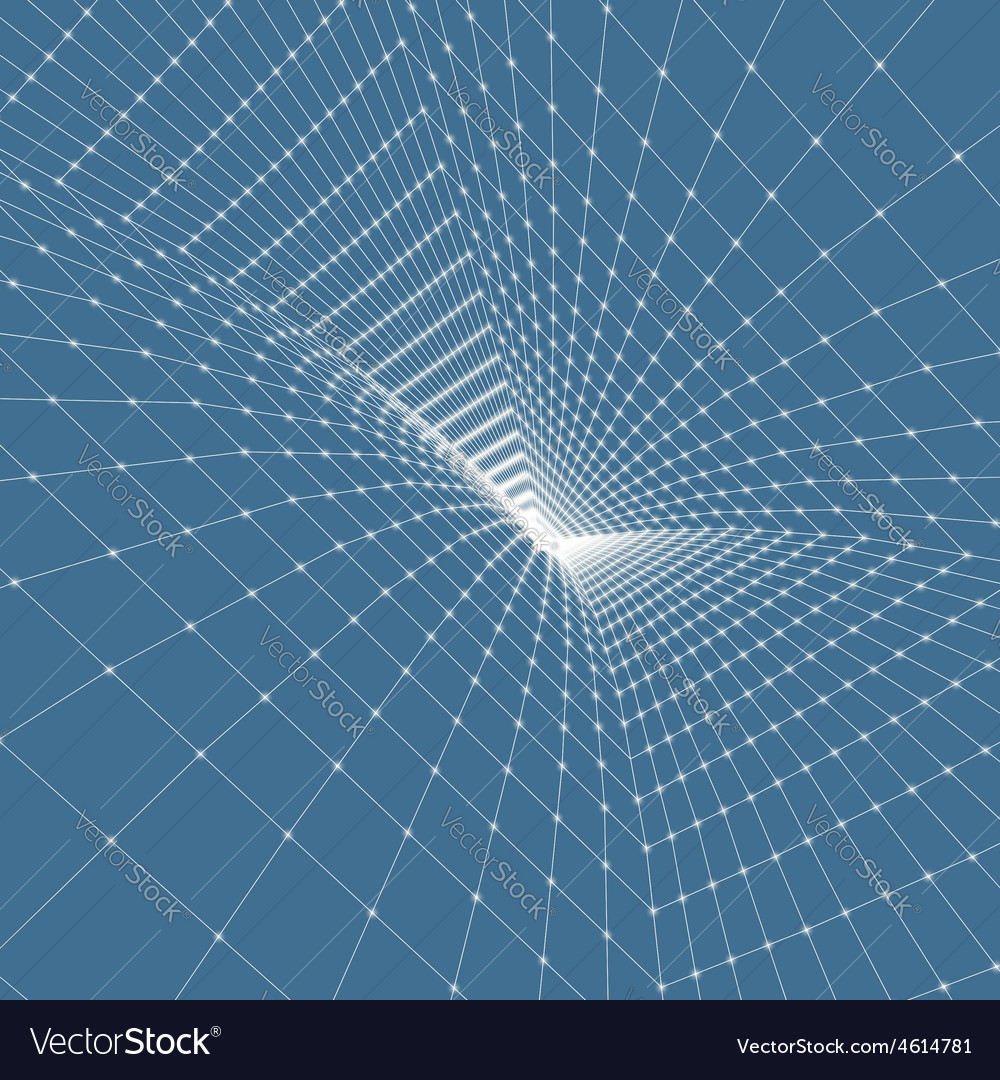 Abstract tunnel grid 3d vector   Price: 1 Credit (USD $1)