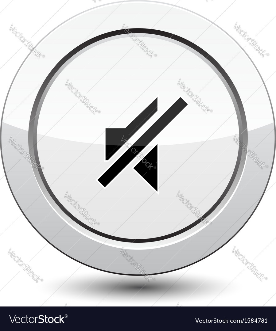 Button with sound off vector | Price: 1 Credit (USD $1)