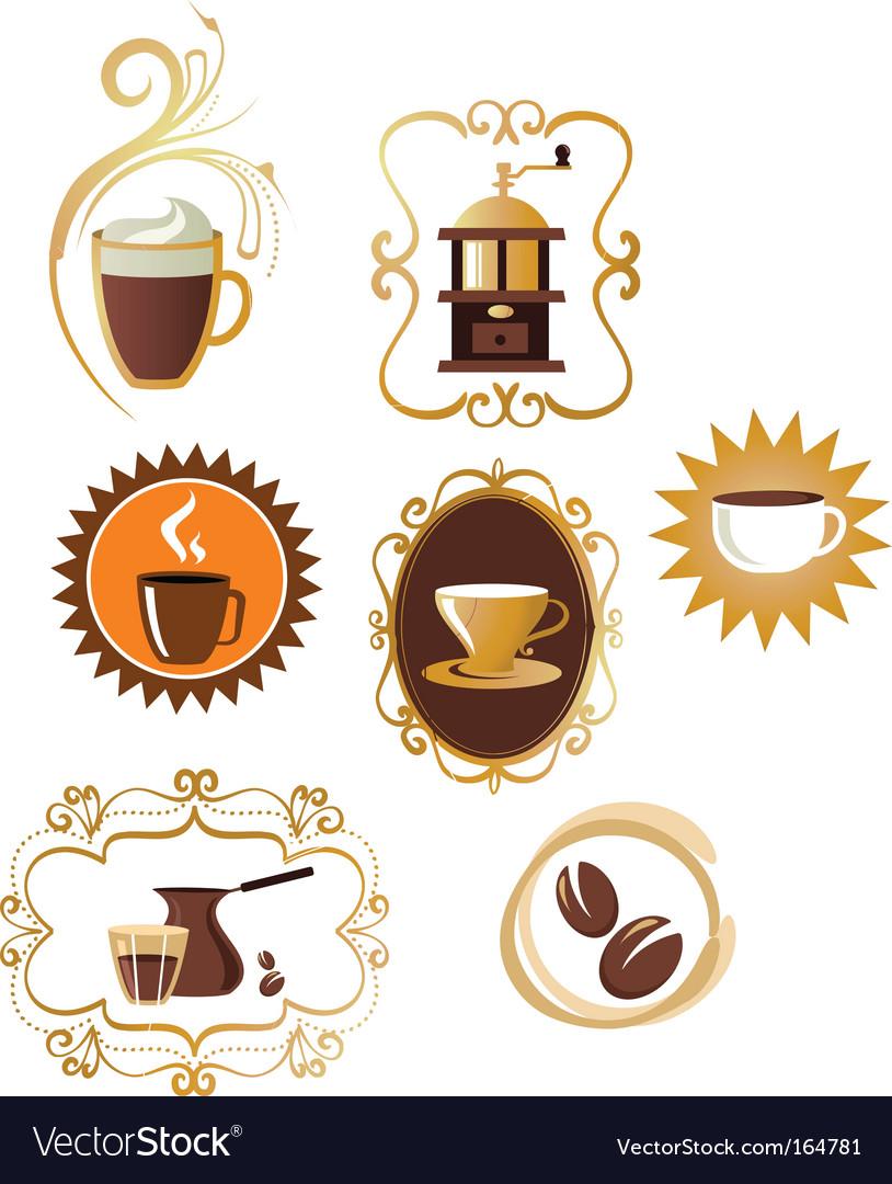 Coffee design elements vector | Price: 1 Credit (USD $1)