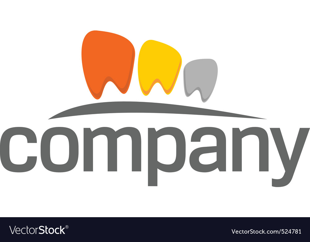 Dental practice teeth logo vector