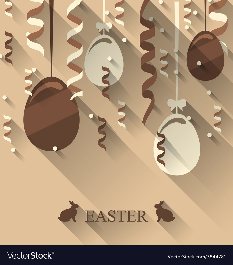 Easter background with chocolate eggs and vector | Price: 1 Credit (USD $1)