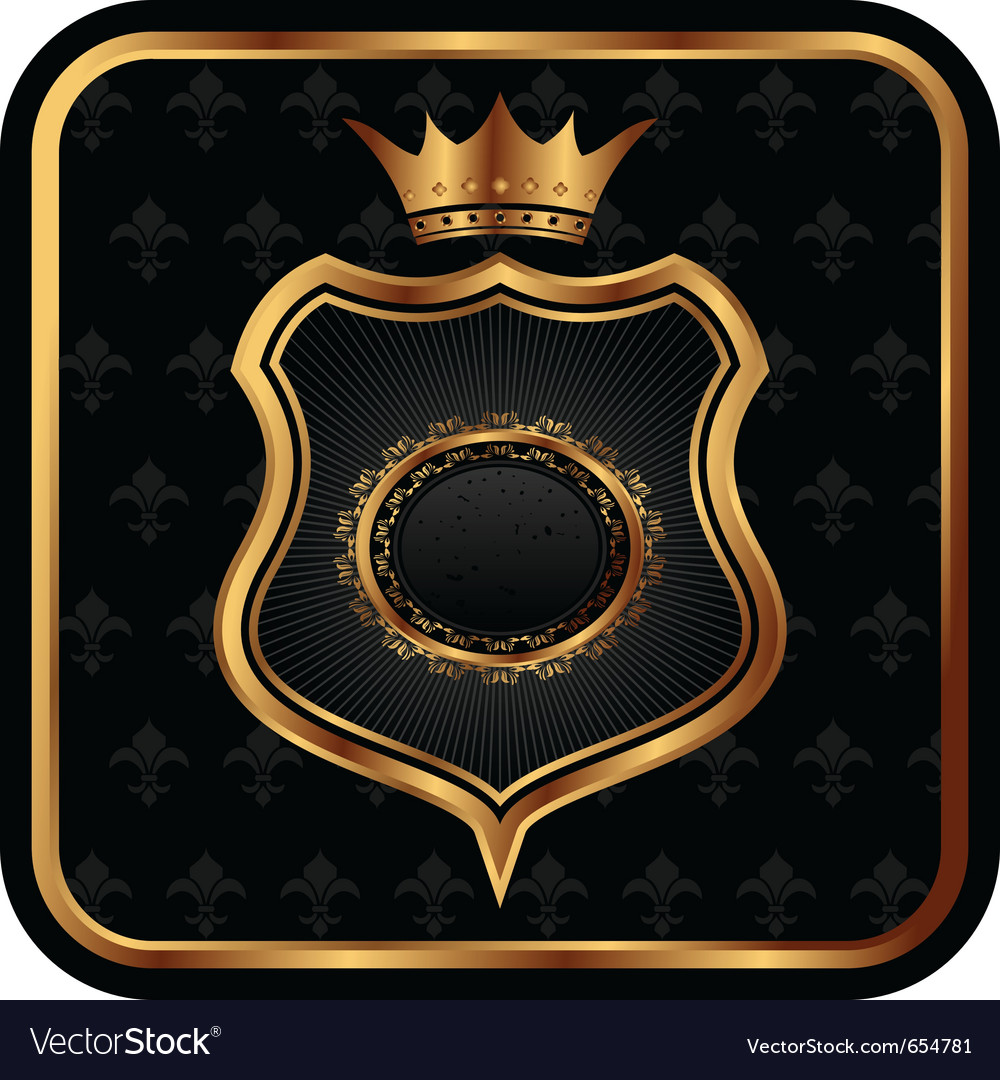 Elegant gold heraldry frame - vector | Price: 1 Credit (USD $1)