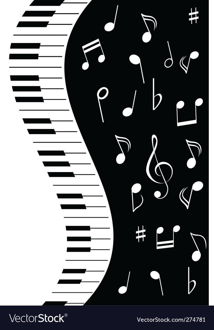 Music piano note vector | Price: 1 Credit (USD $1)