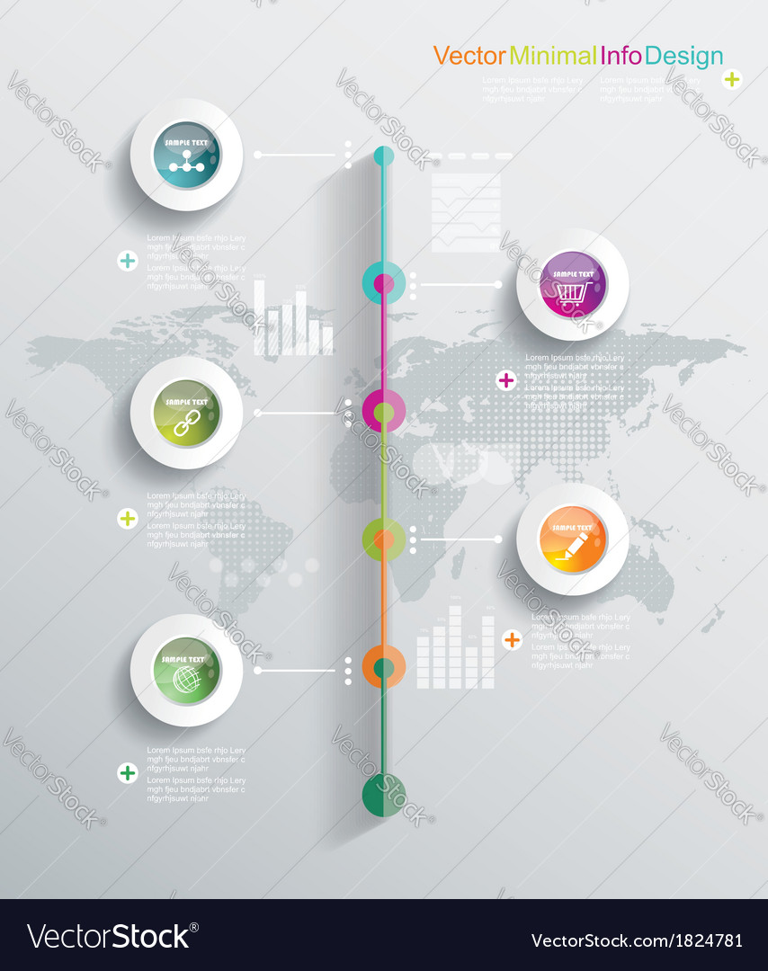 Timeline infographics elements and icons vector | Price: 1 Credit (USD $1)