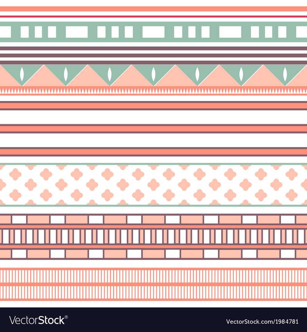 Tribal ethnic seamless stripe pattern vector | Price: 1 Credit (USD $1)