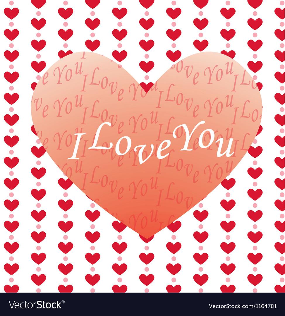 Valentine greeting card vector   Price: 1 Credit (USD $1)
